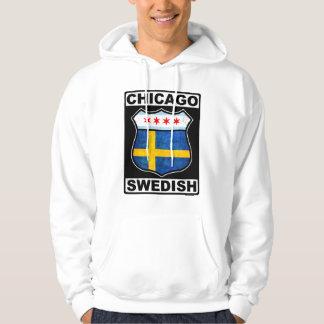 Chicago svenskamerikan sweatshirt med luva