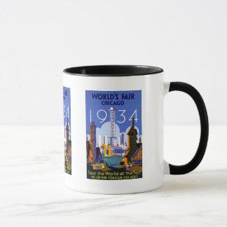 Chicago världs mässa 1934 mugg