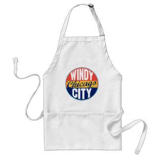Chicago vintageetikett förkläde