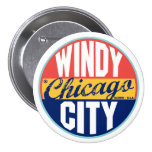 Chicago vintageetikett nål