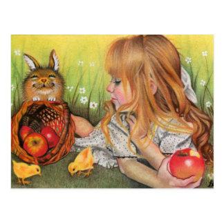 Chick- och kaninvykort vykort