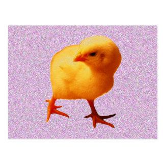 Chick på flyttningen vykort
