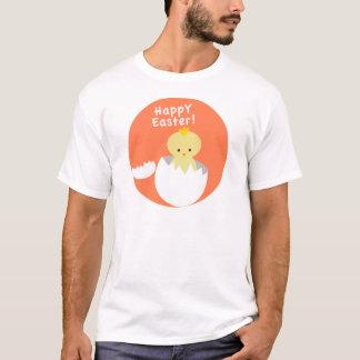 Chick som kläcker glad påsk tee shirt