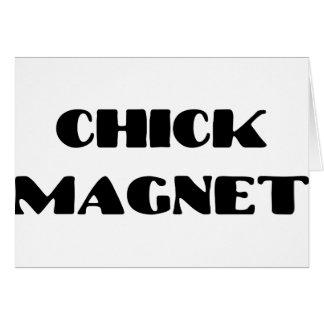 Chickmagnet Hälsningskort