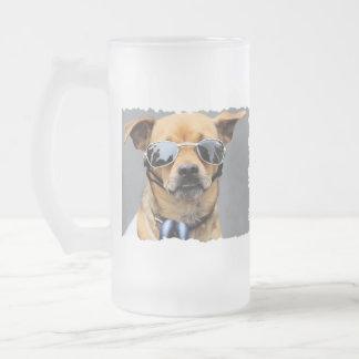 Chihuahua - hejdamer! frostat ölglas
