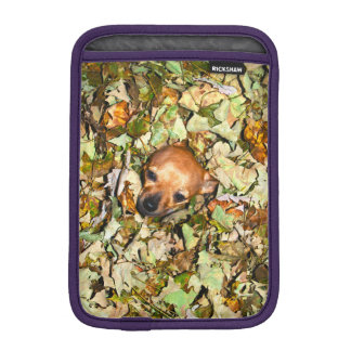 Chihuahua i höst löv sleeve för iPad mini