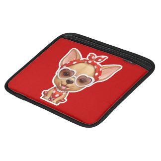 Chihuahua i klädseln av en Retro skönhet iPad Sleeve