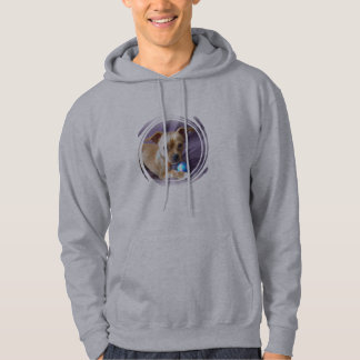 Chihuahua med blåttboll hoodie