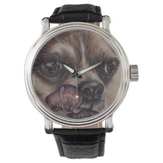 Chihuahua på klockan armbandsur