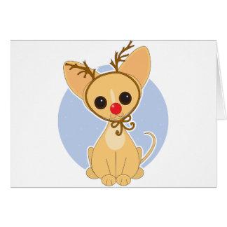 Chihuahua Rudolf Hälsningskort
