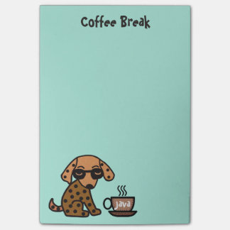 Chihuahuaen kaffe somavbrottet Postar-it®, noterar Post-it Lappar