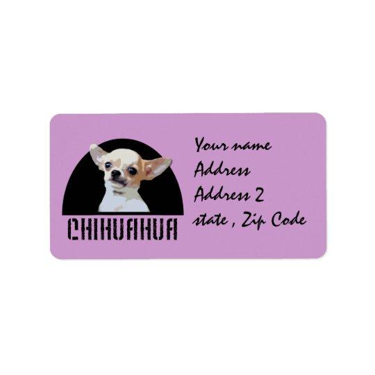 Chihuahuahund Adressetikett
