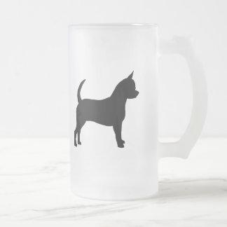 Chihuahuahund Frostat Ölglas