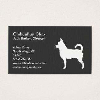 ChihuahuahundSilhouette Visitkort