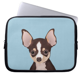 Chihuahuatecknad Laptop Fodral