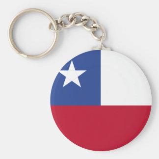 Chile flagga rund nyckelring