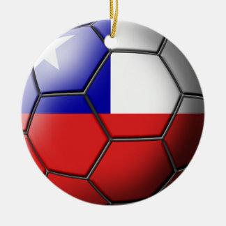 Chile fotbollprydnad julgransprydnad keramik