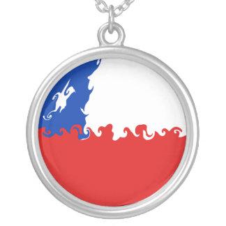 Chile Gnarly flagga Halsband Med Rund Hängsmycke
