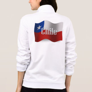 Chile som vinkar flagga jackor med tryck