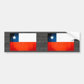 Chilensk flagga för färgrik kontrast bildekal