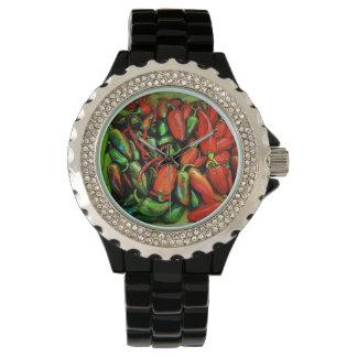 Chilien pepprar klockan armbandsur