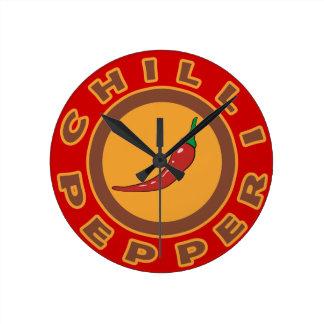 chilipeppar. krydda rund klocka
