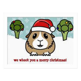 """Chinchilla Santa """"vecka dig god jul """", Vykort"""