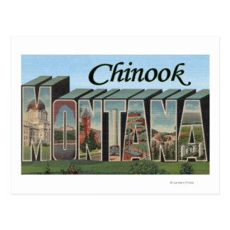 Chinook Montana - stora brevplatser Vykort