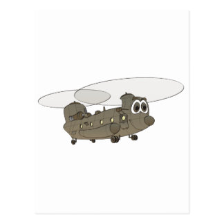 Chinookhelikoptertecknad Vykort