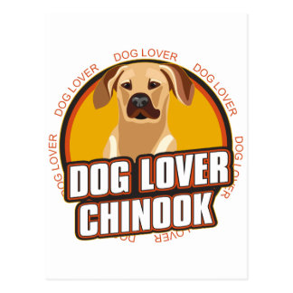 Chinookhund älskare vykort