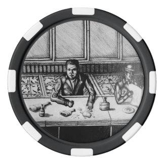 Chip för pubplatshand plockade poker marker