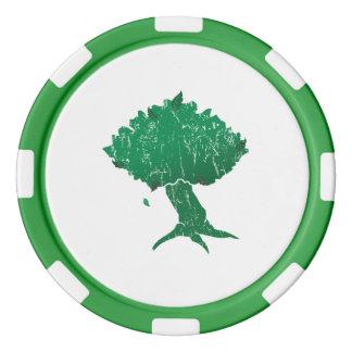 Chiper för DAoC Hibernia lerapoker, görar grön den Poker Marker