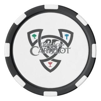 Chiper för poker för DAoC fnurralera, svärtar den Poker Marker