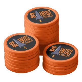 Chiper för poker för namn för poker marker