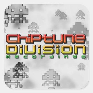 Chiptune uppdelningsinspelningar fyrkantigt klistermärke