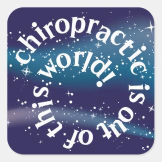 Chiropractic är ut ur ungeklistermärkear för denna fyrkantigt klistermärke