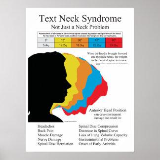 Chiropractic för textnackesyndrom i meterkg poster