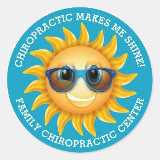 Chiropractic gör mig sken beställnings- ungar runt klistermärke
