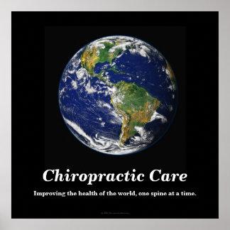 Chiropracticaffisch: Förbättra den vård- världen Poster