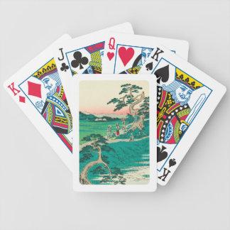 Chiryuu Japan: Vintageträklosstryck Spelkort