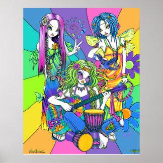 """""""Chloe, melodi, affisch för musikband för harmoni"""""""