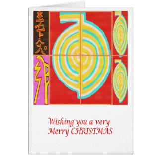 CHO KU REI - Reiki god jul Hälsningskort