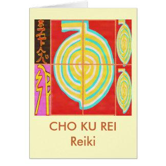 CHO KU REI - Reiki Hälsningskort