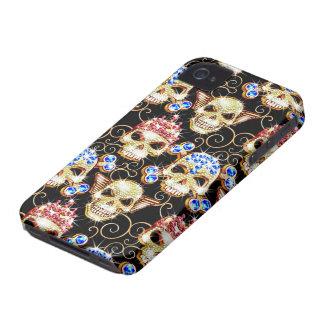 Chocka & Awe fodral för den Bling döskallariPhonen iPhone 4 Hud