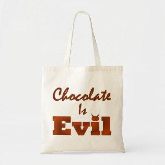 Choklad är ond tygkasse