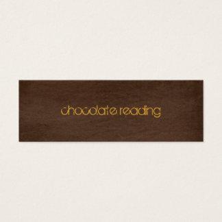 choklad - brun denim litet visitkort