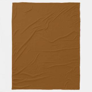 Choklad - brun fast färg fleecefilt