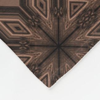 Choklad - brun mosaisk ullfilt fleecefilt