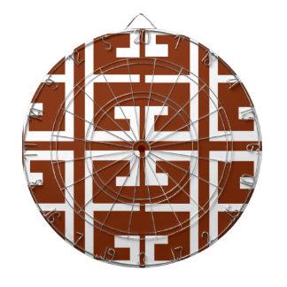 Choklad - brunt- och vitspanjoren belägger med piltavla