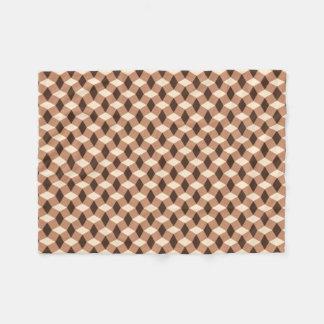 Choklad - bruntet vågigt mönsterullfilten fleecefilt